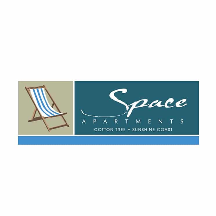 Space Apartments logo design