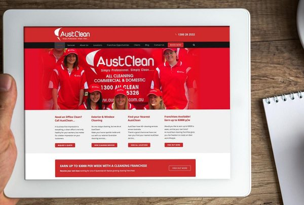 Austclean Cleaning Franchise Web Design