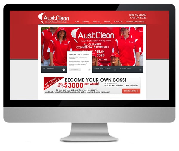 Austclean Cleaning Franchise Website