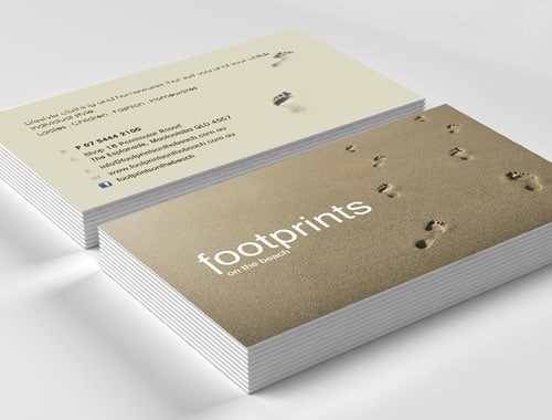 Footprints on the Beach Business Cards