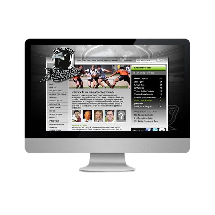 Souths Logan Magpies Web Design