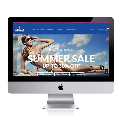 Sundaze Swimwear Website