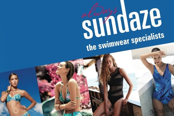 Sundaze swimwear press ad