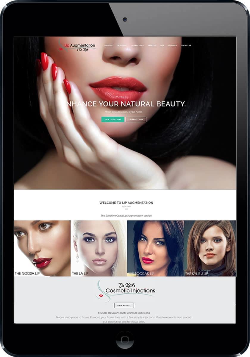 Dr Lips Noosa Lip Augmentation website