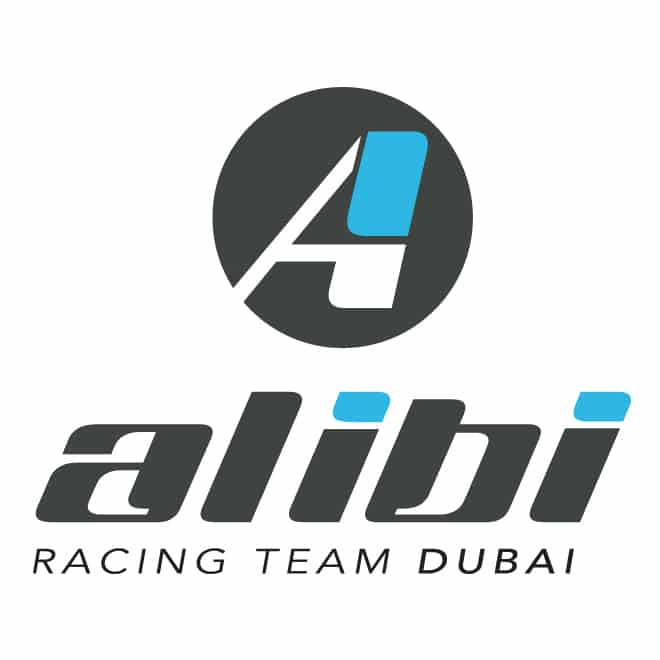 alibi dubai racing team logo dubai motor sports logo design