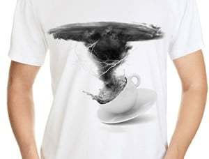 Storm in a Teacup Tee Design