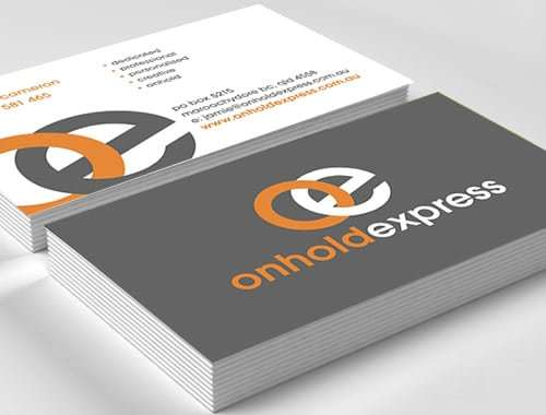 Onhold Express Business Cards
