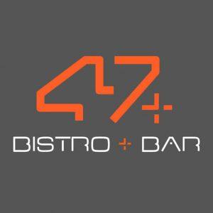 47 bar and bistro logo design