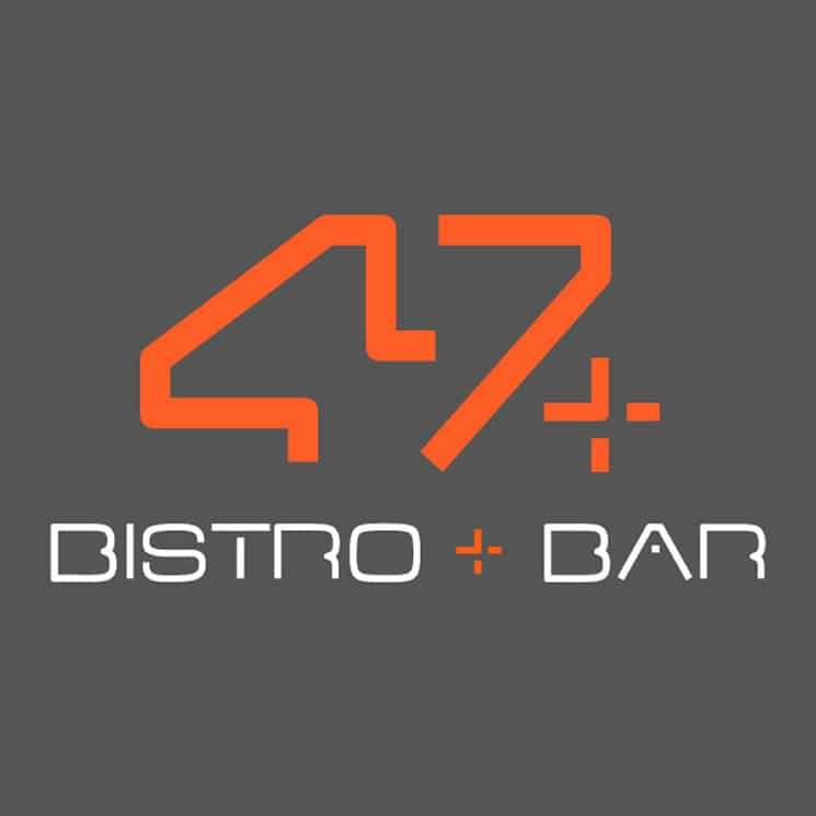 47 bar and bistro logo design
