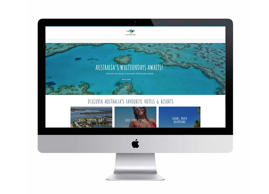 Australian Holiday resorts tourism website design