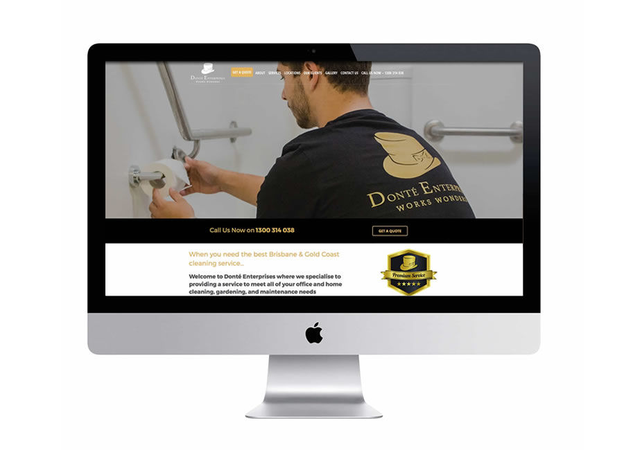 Website design for Brisbane and Gold Coast cleaning services.