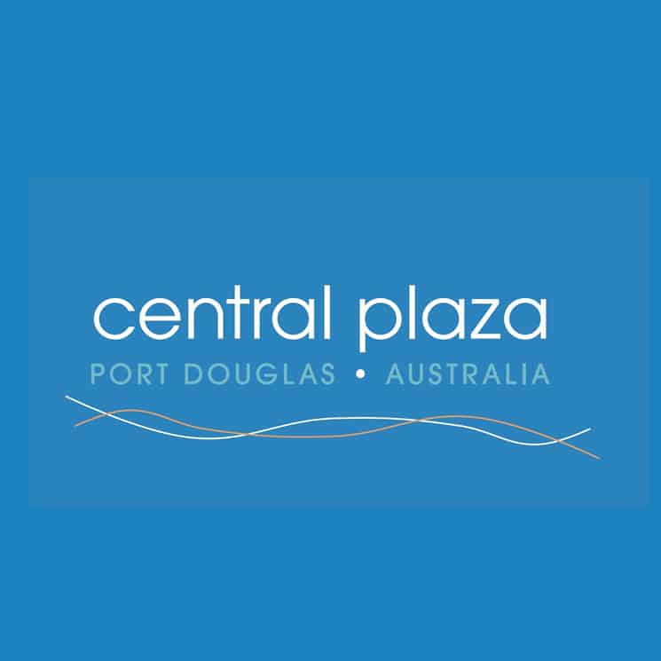 Central Plaza Port Douglas logo design