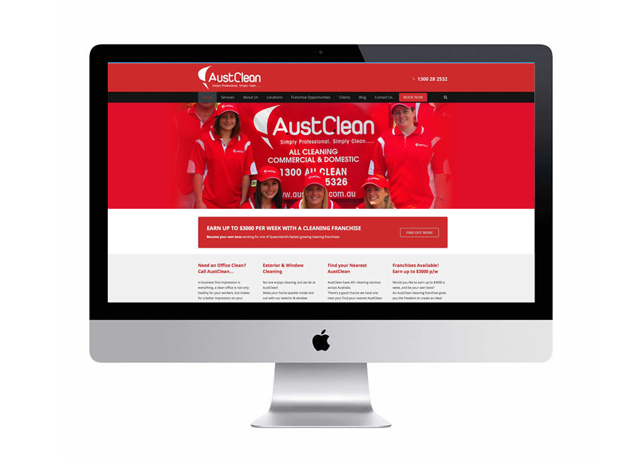 Australian Cleaning franchise website design specialists
