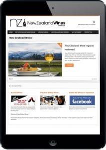 New Zealand Wines website design
