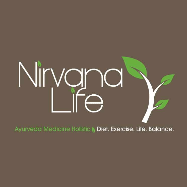 Ayurveda logo design for Nirvana Life Noosa
