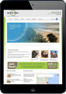 Coolum Beach cafe website design