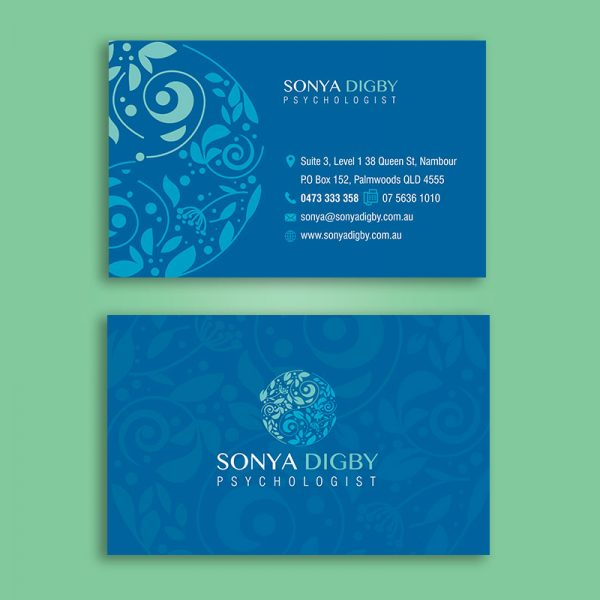 Psychologist business cards design and print