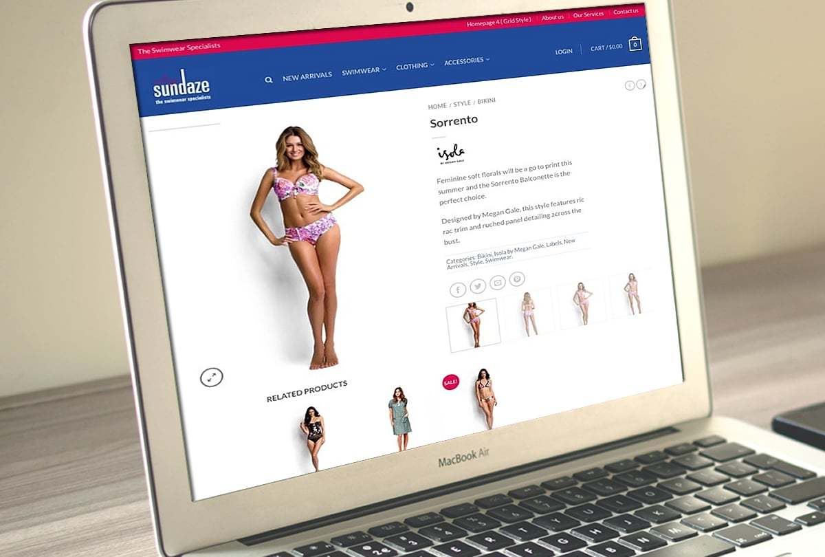 Sunshine Coast Sundaze Swimwear website