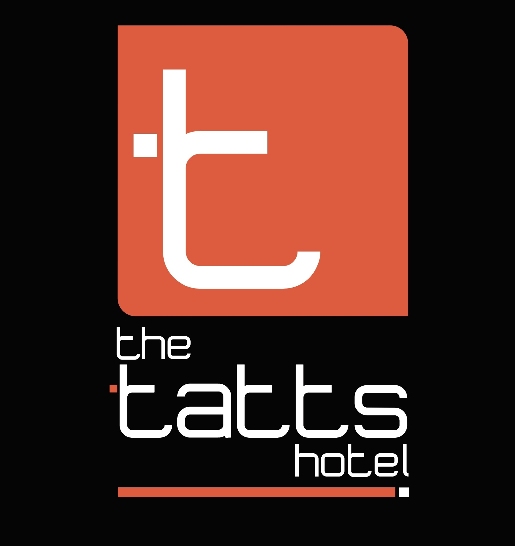 Tatts Hotel Logo design