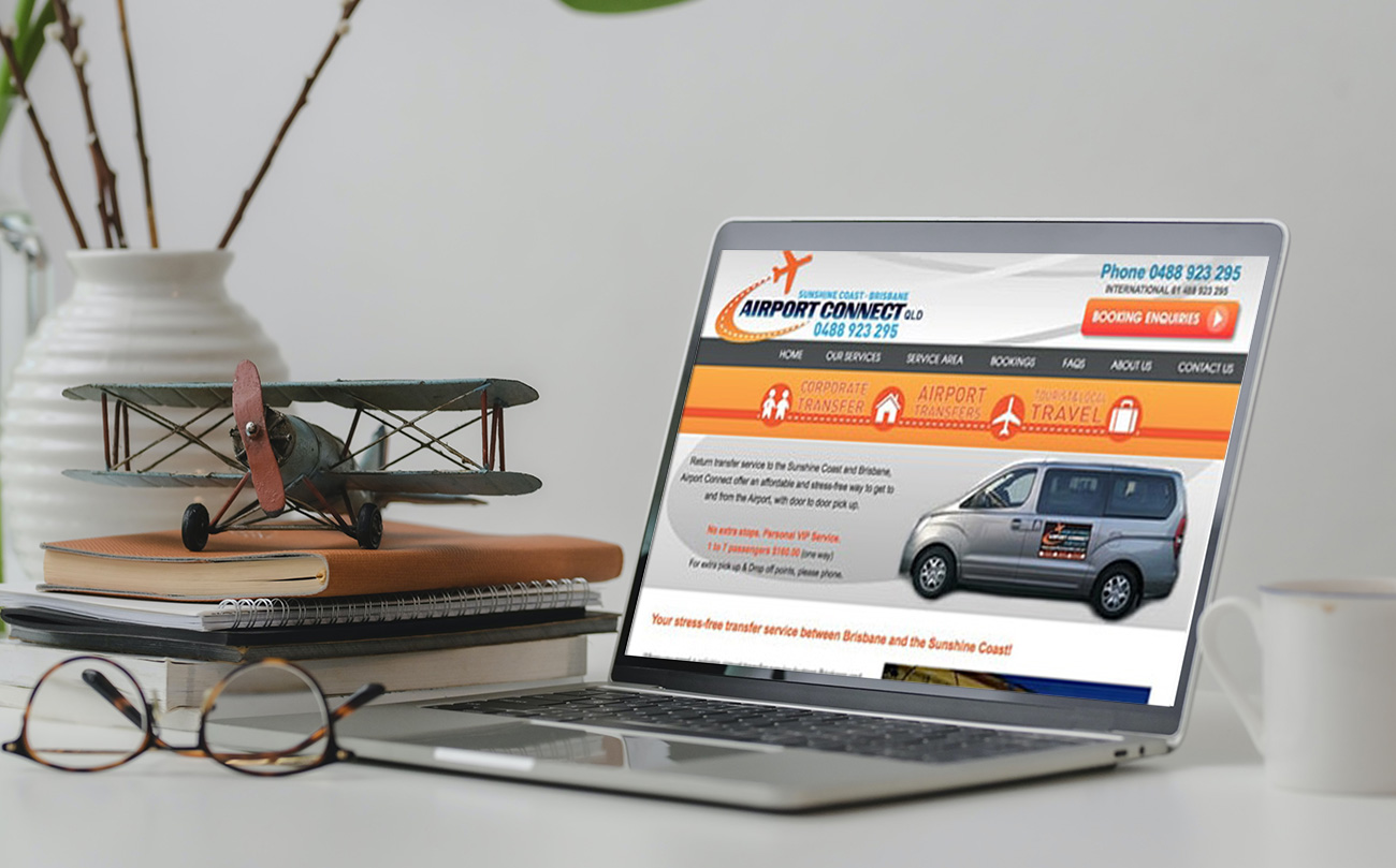 Sunshine Coast Airport Transport web design