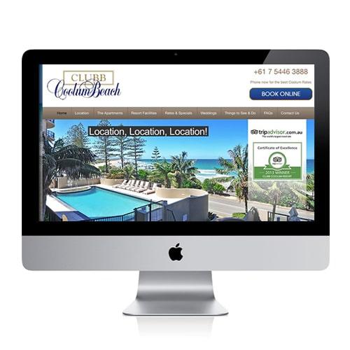 Clubb Coolum Beach website