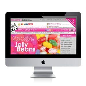 Confectionery website Design Australia