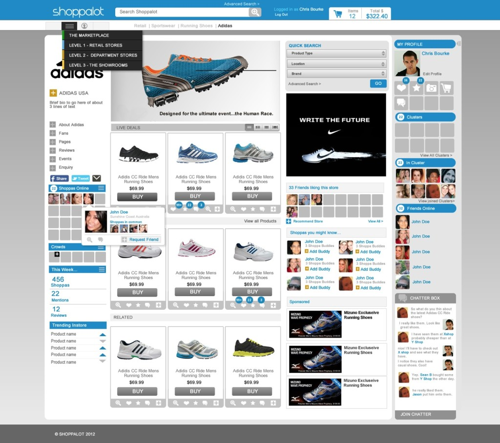 Online social shopping mall