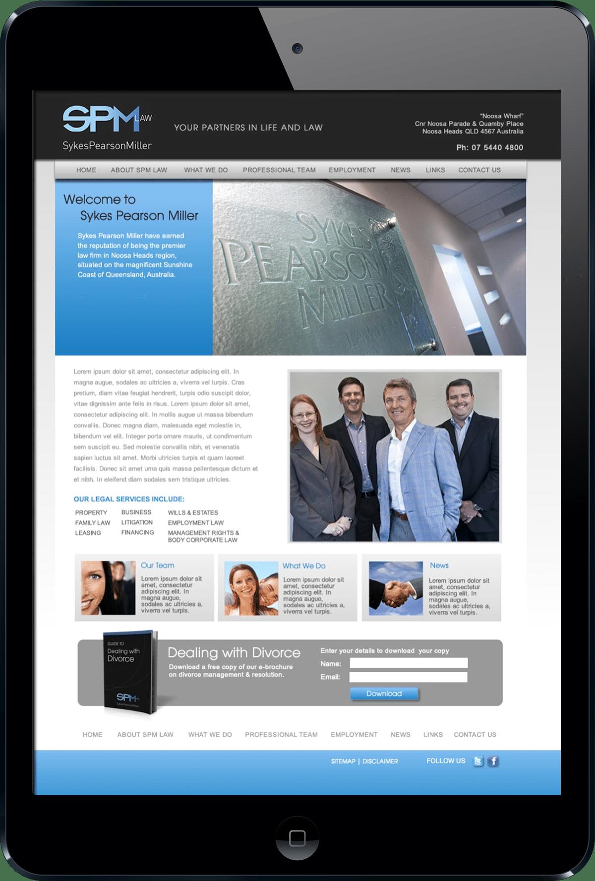 SPM Law Noosa website design