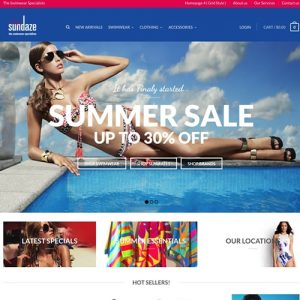 Sunshine coast swimwear website design