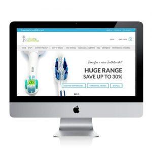 Dental product website design