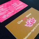 one step move business cards