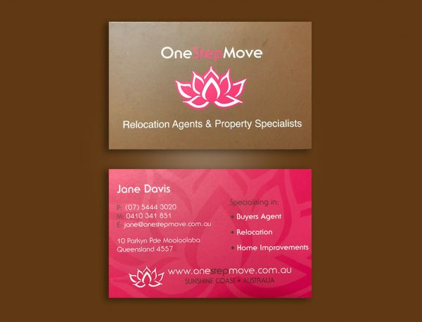 Removals services business cards