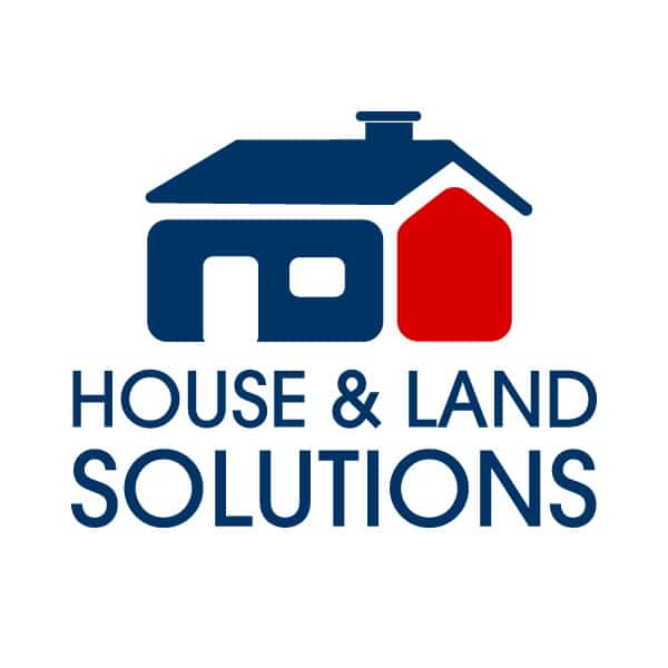 House and land solutions Real estate logo