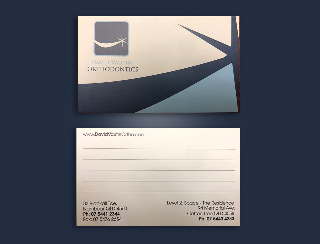 Orthodontics business cards design and printing