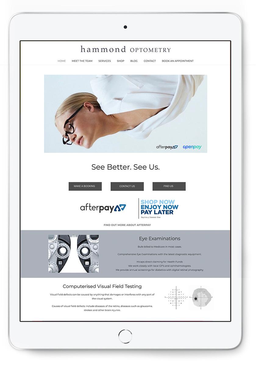 Nambour Optometry Website Design