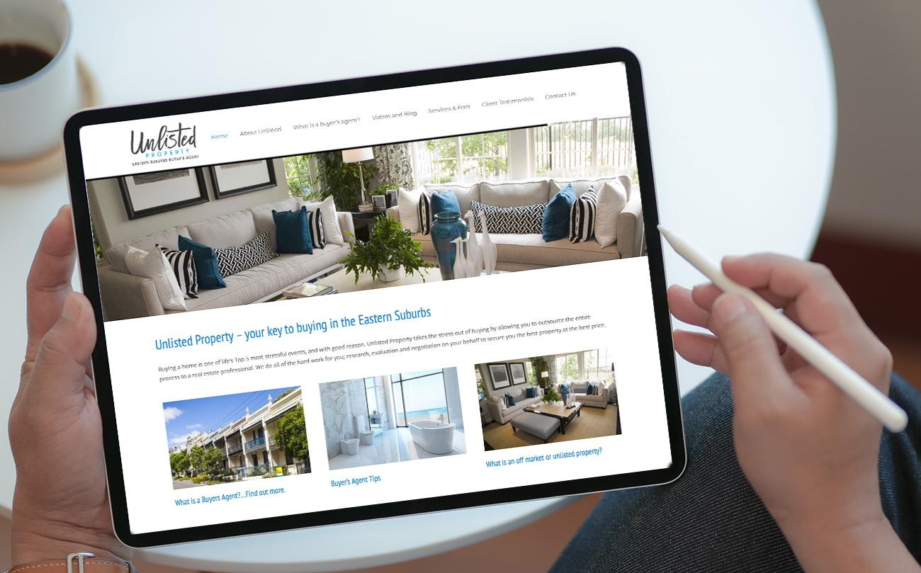 Sydney real estate web design