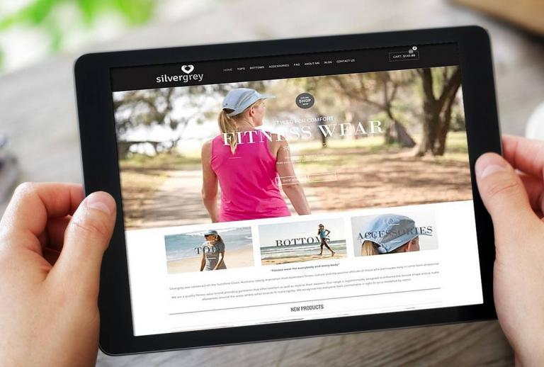 Womens Activewear website design