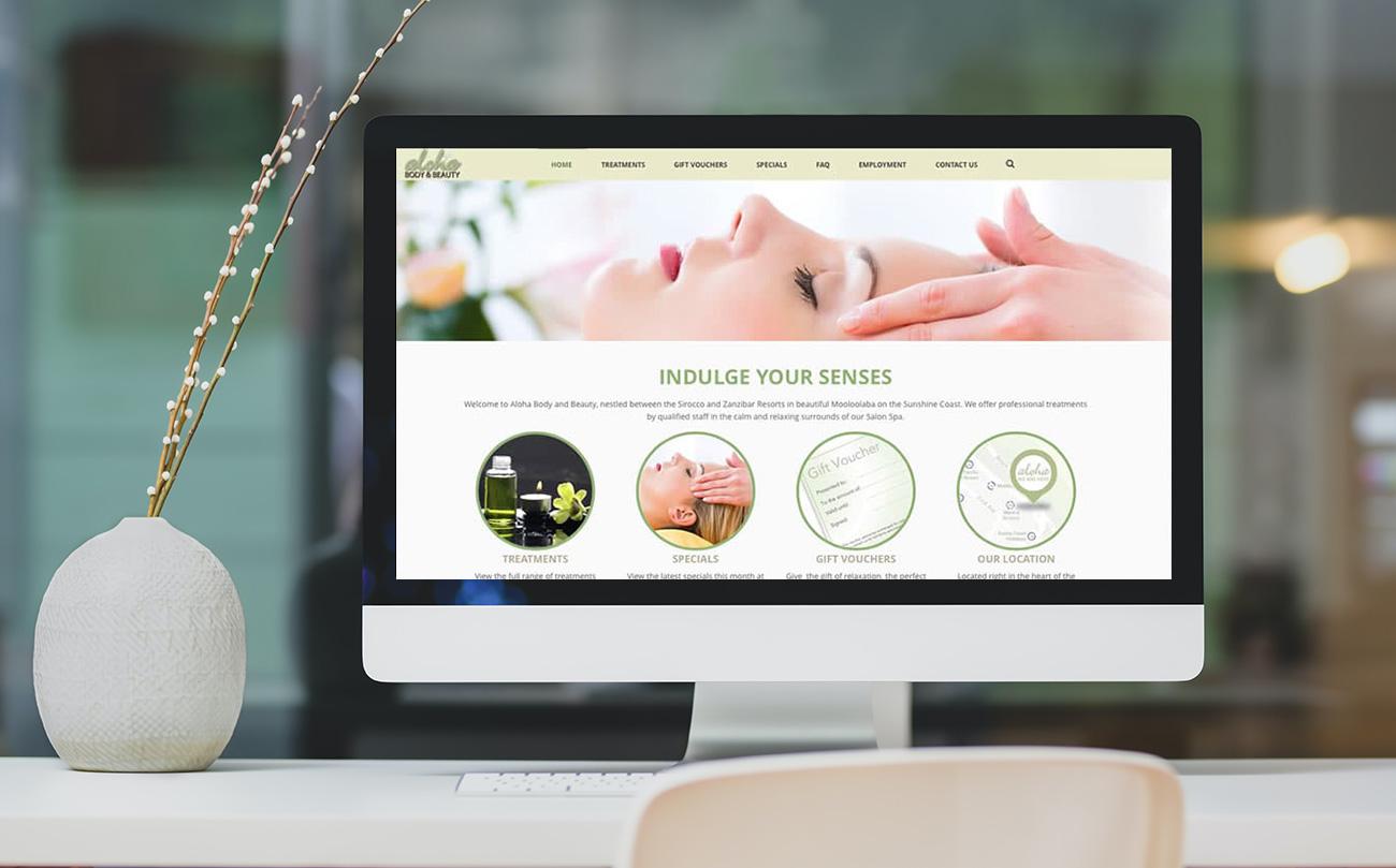 Beauty Therapist Website Design