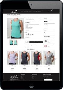 Womens sportswear ecommerce website