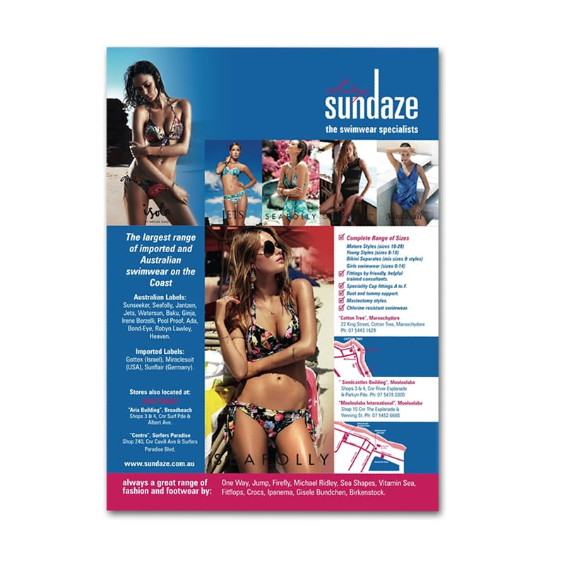 Sundaze Swimwear Press Ad