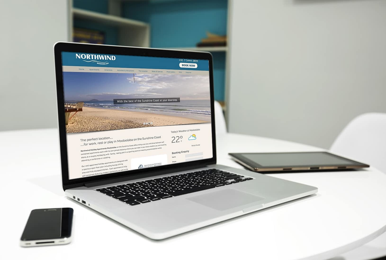 Northwind Mooloolaba Apartments website