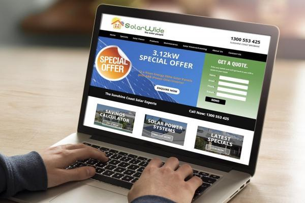 Solar Power Web site design