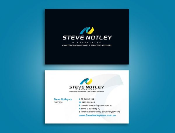 Accountant business cards design & print