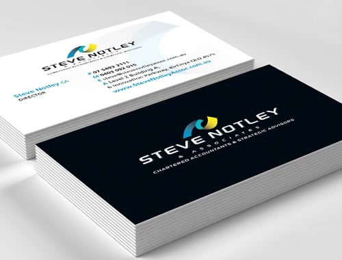 Sunshine Coast accountant business card printing