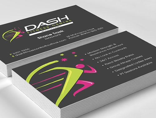 Fitness Centre Business Card Printing