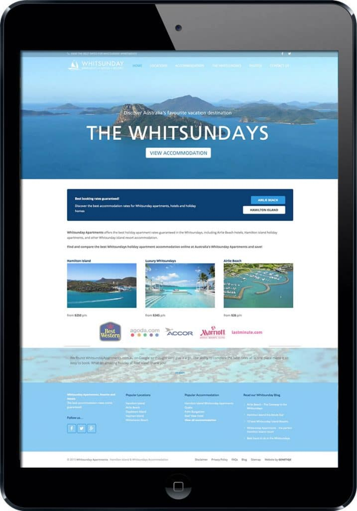 Whitsunday tourism web design