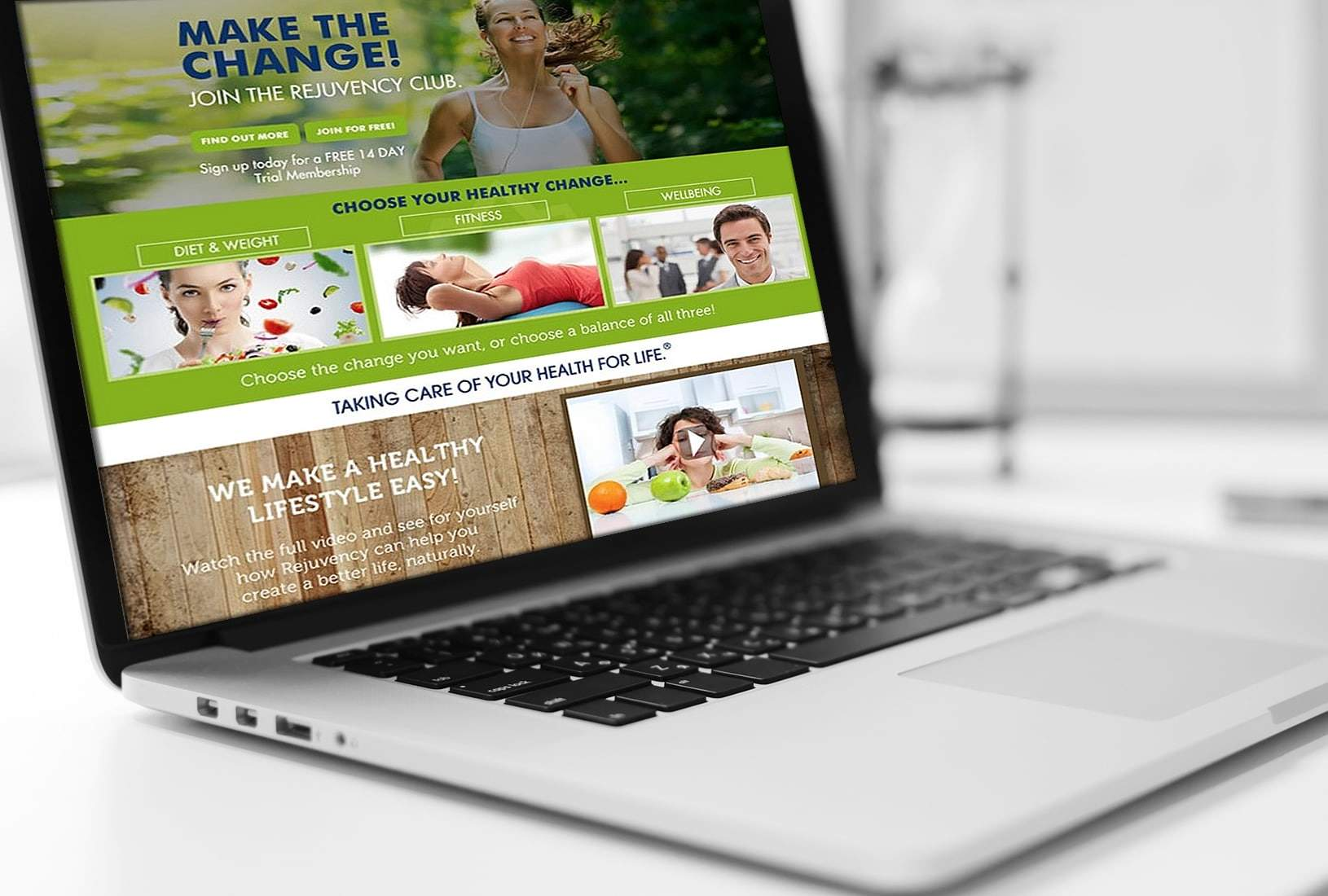 Rejuvency Health website design