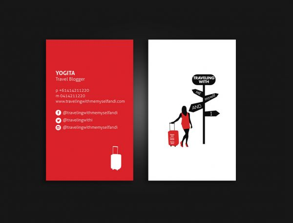 Travel blog business cards design and printing