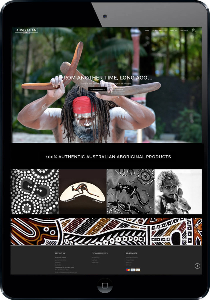 Australian origins aboriginal art website