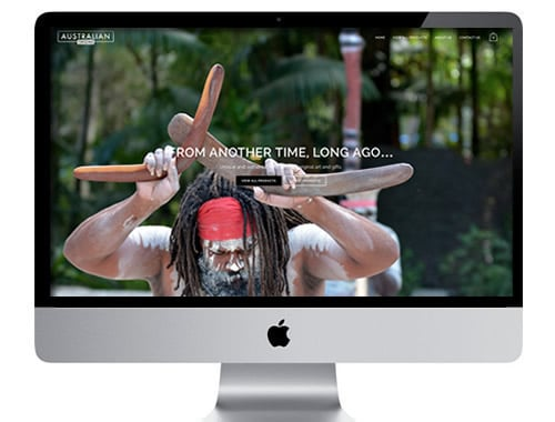 Australian Aboriginal Art web design